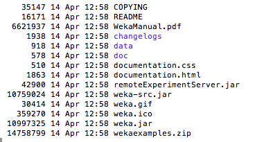 Weka Installation Files