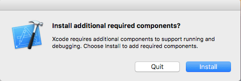 Install Additional XCode Components